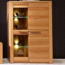 Highboard vitrinekast incl. LED-verlichting DAWSON-36...
