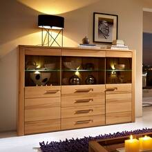 Highboard incl. LED-verlichting DAWSON-36 kern beuken...