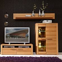 TV-wandmeubel met display-kast incl. LED-verlichting...