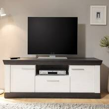 Cottage TV Lowboard Pine White Nb. met wenge SALARA-61 B...