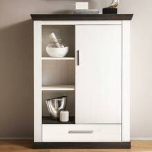 Highboard in country-stijl met 3 open compartimenten...