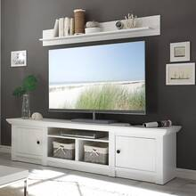 Landhuis TV Lowboard WINGST-61 in decor grenen wit Nb. B...