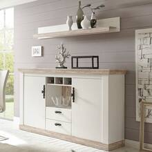 Dressoir en wandbord FERNA-61 in het decor Grenen wit...