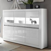 Modern buffetkast COGO-61 in hoogglans wit incl. LED en...