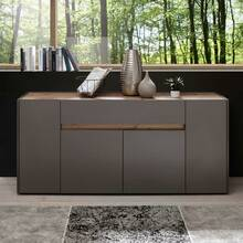 Design-wandmeubel met dressoir TOLONE-61 in mat antraciet...