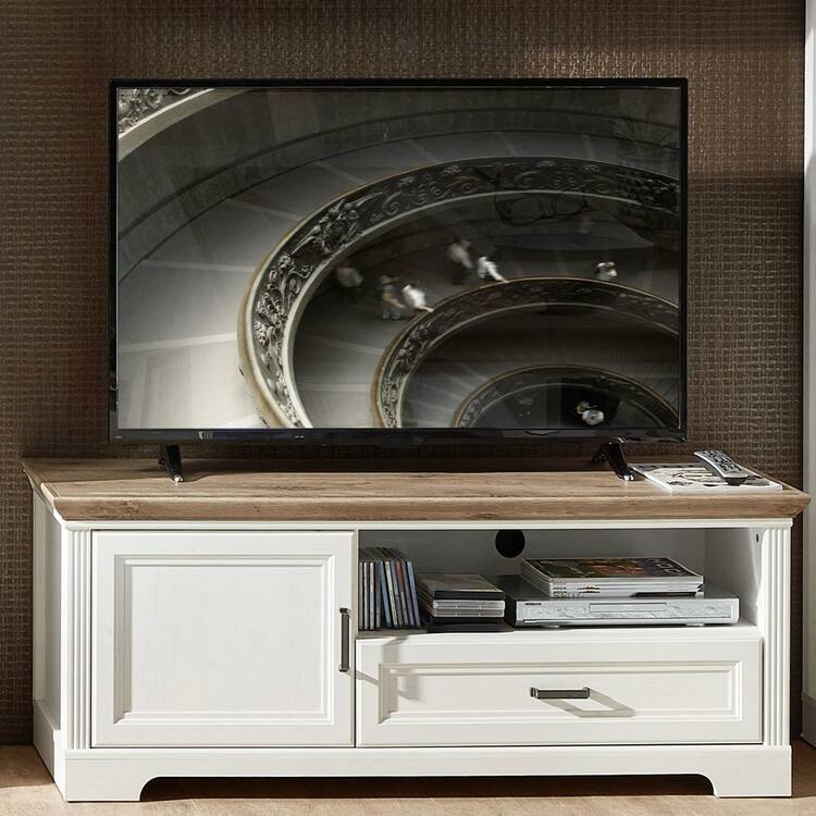 Tv Kast Grenenhout.Tv Meubel Ji Lich 36 In Grenen Wit En Artisan Oak Nb