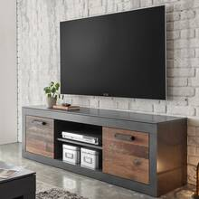 Industrieel design TV-lowboard BERLIN-61 in oud mixdecor...