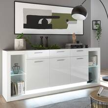 Dressoir in hoogglans wit MAILAND-61 inclusief...