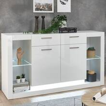 Dressoir in hoogglans wit MAILAND-61 incl....